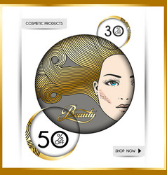 business brochure-template for beauty salons and vector image