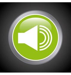 computer button design vector image vector image
