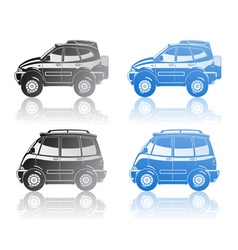 Crossover and minivan vector