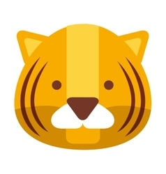 Cute tiger isolated icon design vector