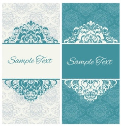 decorative frame or invitation cards vector image