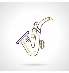 Flat line icon for sax vector image vector image