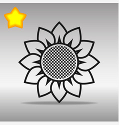 Flower black icon button logo symbol concept vector