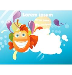 Funny fish vector image