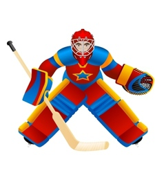Goalie vector image