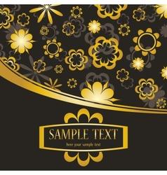 Golden flowers background vector image