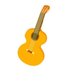 Guitar icon cartoon style vector image