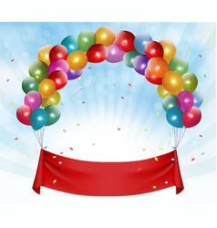 Happy birthday banner background vector