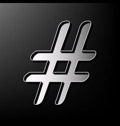 hashtag sign gray 3d printed vector image vector image