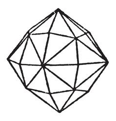 Hexakis octahedron vintage vector