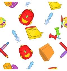 Learning in school pattern cartoon style vector