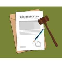 Legal concept of bankcruptcy law vector