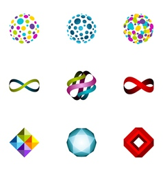 logo design elements set 25 vector image vector image