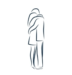 Man and woman hugging each other vector image