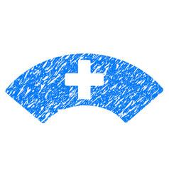 Medical visor grunge icon vector