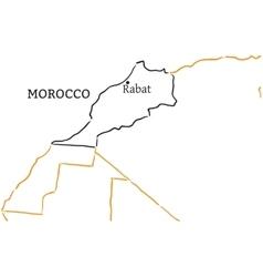 Moroco hand-drawn sketch map vector