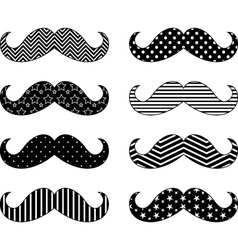 Mustaches pattern collections vector