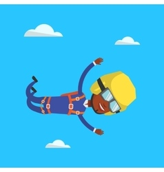 Parachutist jumping with parachute vector
