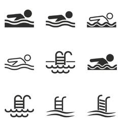 Pool icon set vector
