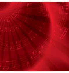 red background with notes vector image