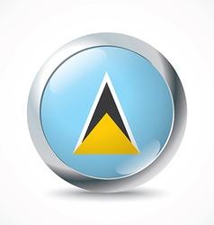 Saint lucia flag button vector