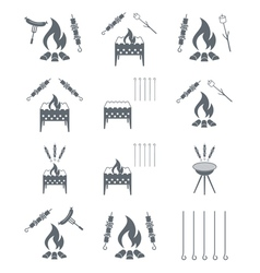 Set of kebab icons vector image
