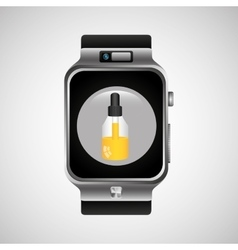 smart watch wearable healthy chemical dropper vector image