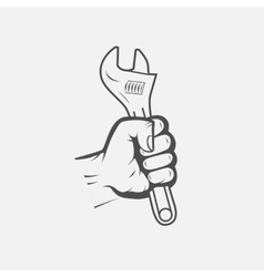 spanner in hand vector image