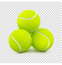 tennis balls on transparent background vector image