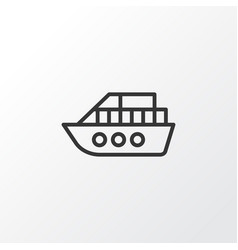 Vessel icon symbol premium quality isolated boat vector