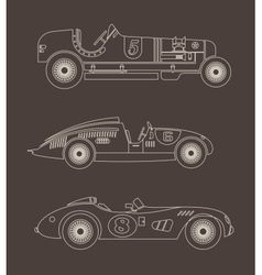 vintage sport racing cars vector image