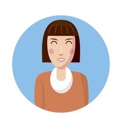 Woman avatar icon cartoon style vector image