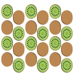 Kiwi fruits background design vector