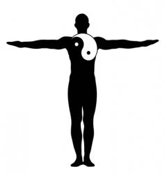 yin yang man vector image