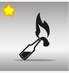 molotov black icon button logo symbol vector image