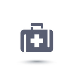 First aid kit medicine chest icon vector