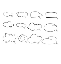 speach cloud vector image
