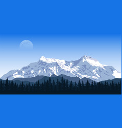 mountain peak landscape vector image