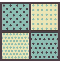 Set of colored dotted patterns vector