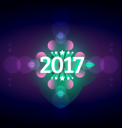 2017 happy new year celebration background with vector