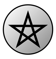 Pentagram button vector
