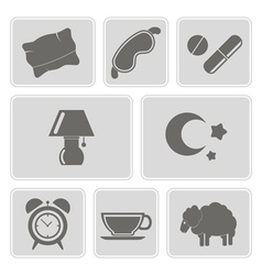 Set with sleeping icons vector