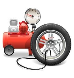 Pump Concept with Wheel vector image
