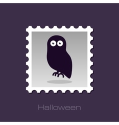Halloween owl stamp vector