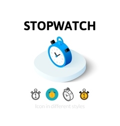 Stopwatch icon in different style vector