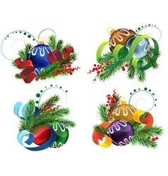 Christmas decoration elements vector