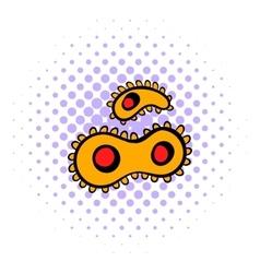 Virus icon comics style vector image