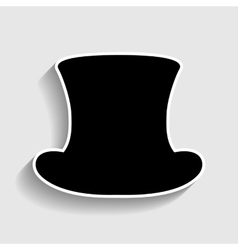 Top hat sign vector