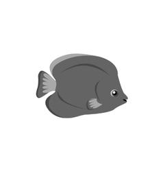 Chaetodon larvatus ocean fish icon vector