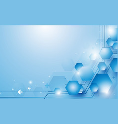 abstract blue and white hexagons repeating vector image vector image